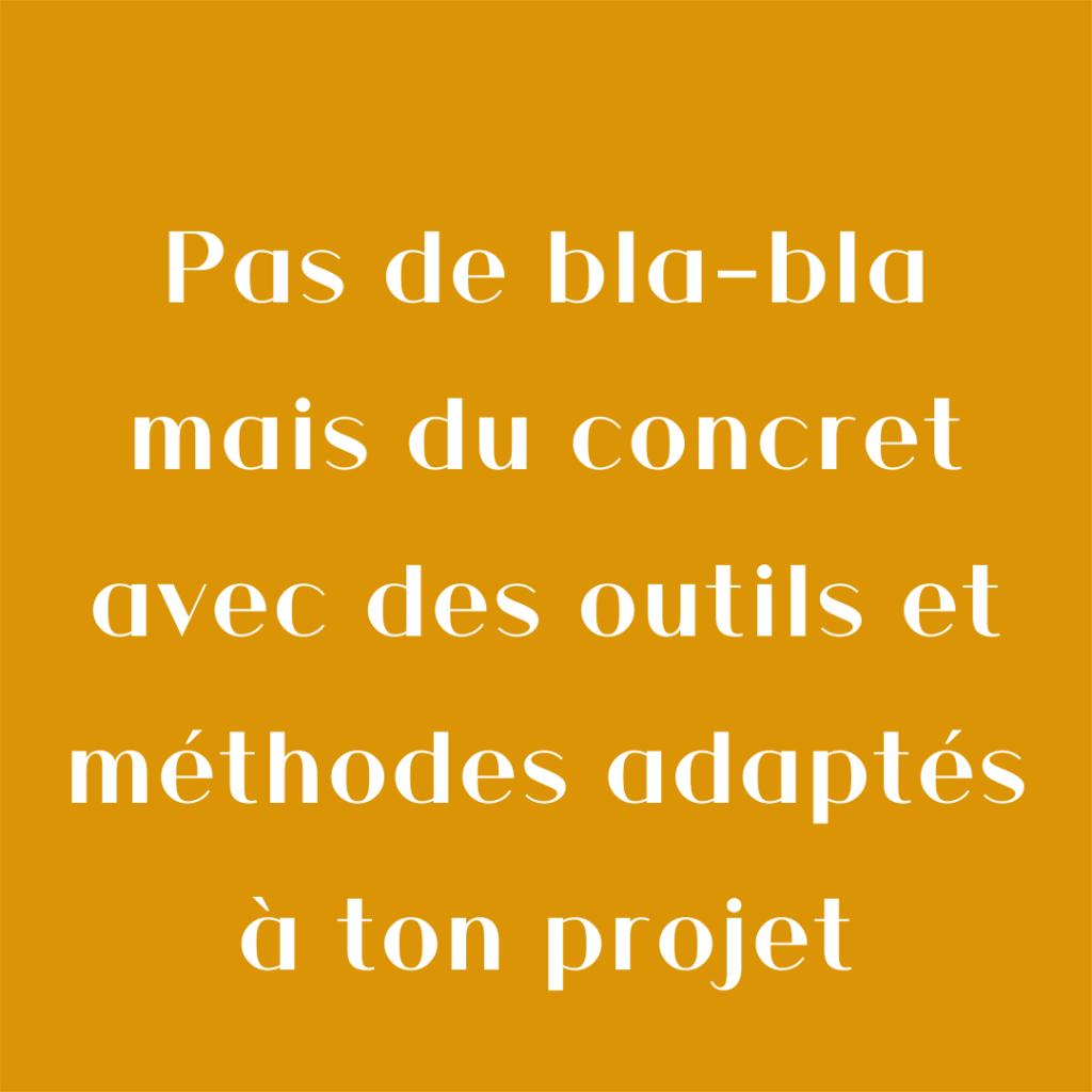 Ma Marque, Ma Com' c'est pas de blabla mais du concret avec des outils et méthodes adaptés à ton projet